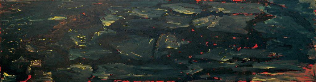 La tormenta, 1995, acrylique sur papier kraft, 117 x 448 cm (Photo © A.Morain)