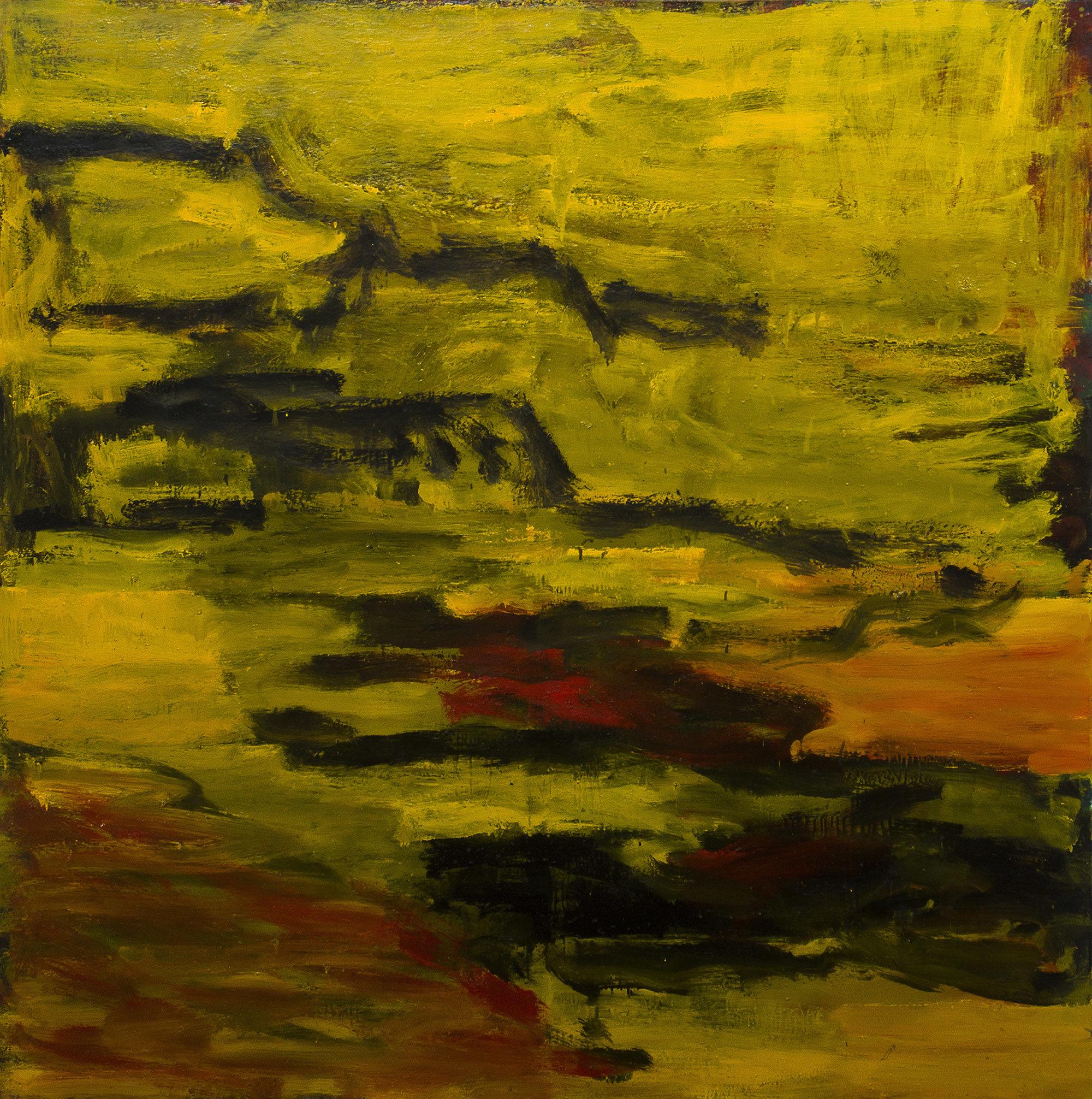 Paysage berbère, 2005, huile sur toile, 200x 200 cm. (Photo © A.Morain)