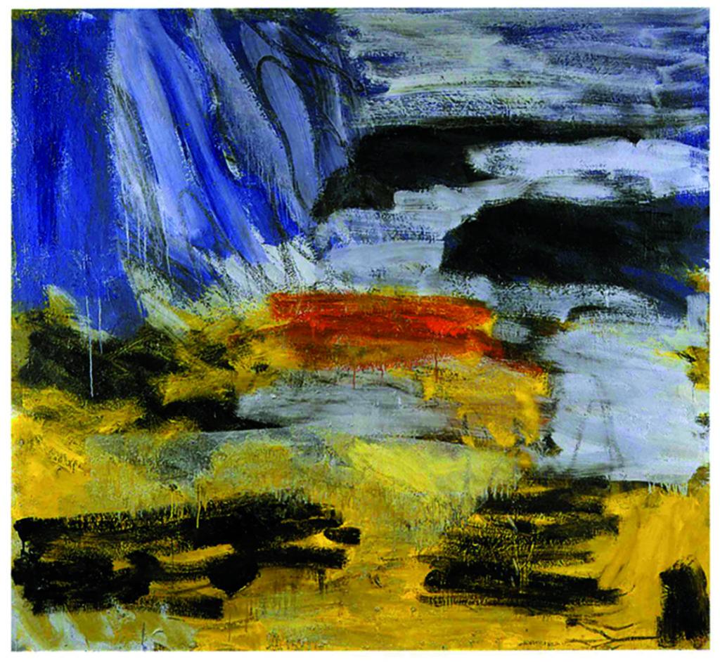 Chemin de pierres, 2005, huile sur toile,188 x 204 cm. (Photo © A.Morain)