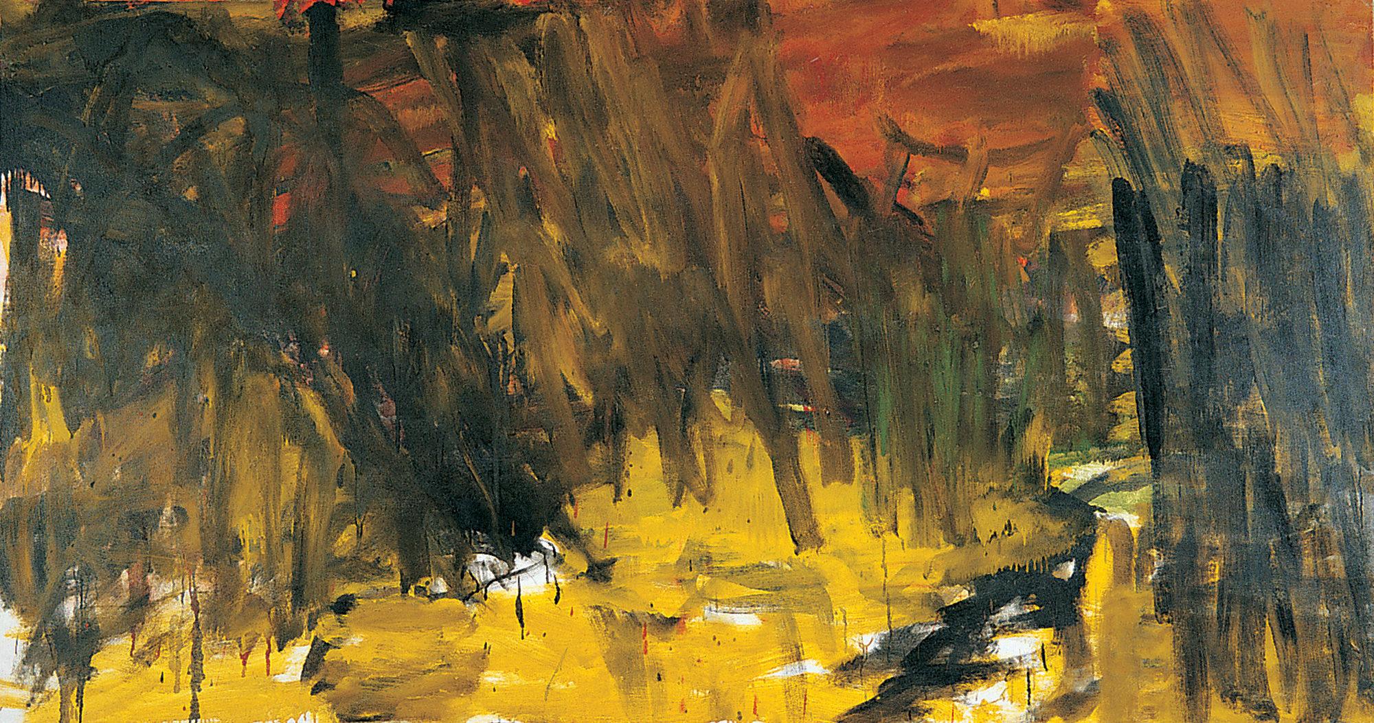Près des champs, 2005, huile sur toile, 125 x 250 cm. (Photo © A.Morain)