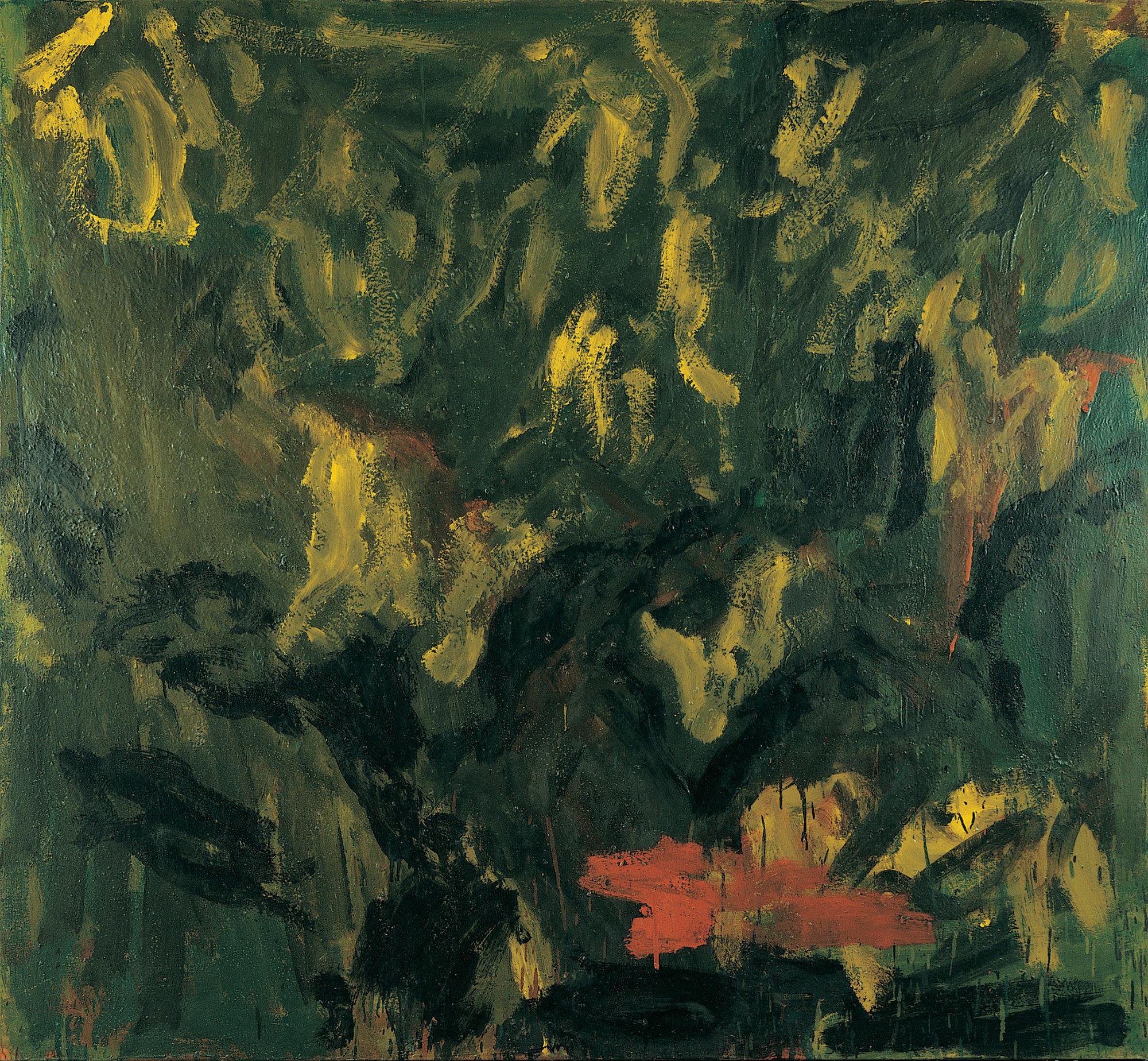 Dans les champs d'oliviers, huile sur toile,188 x 205 cm. (Photo © A.Morain)