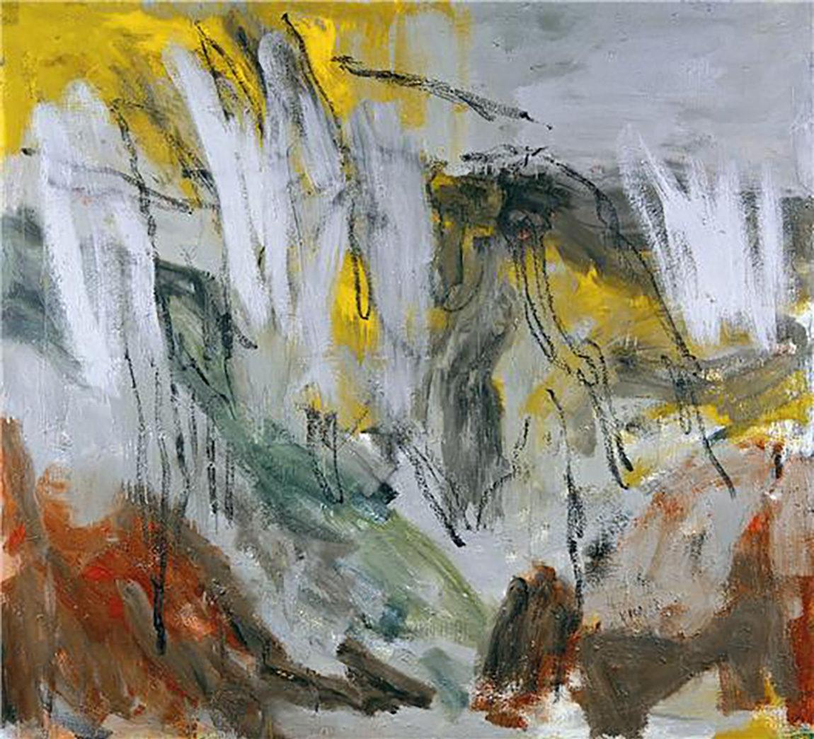 Dans la campagne, 2006, huile sur toile, 200 x 220 cm. (Photo © A.Morain)