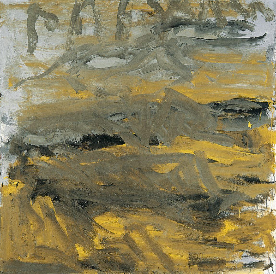 Près des champs, 2007, huile sur toile,150 x 150 cm, collection personnelle. (Photo © A.Morain)