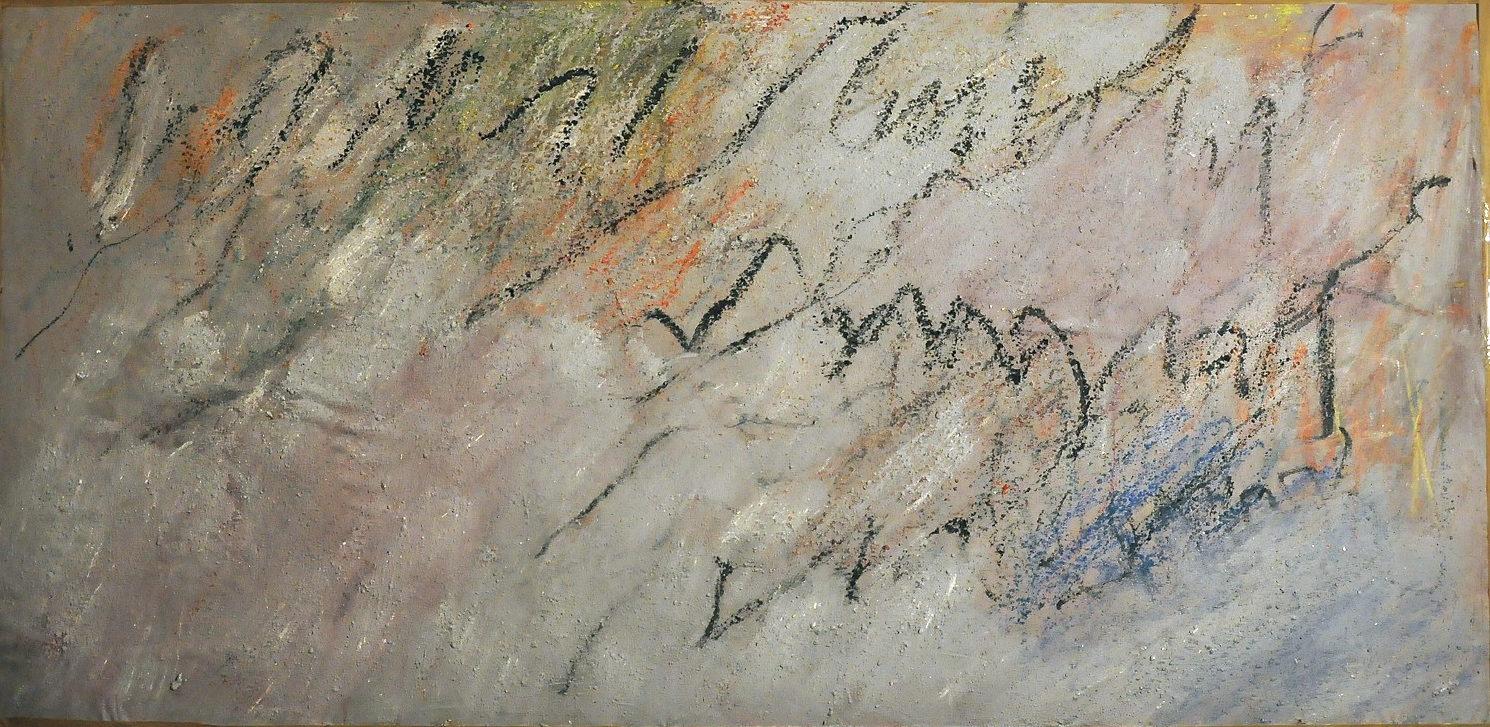 Tracé sur la paroi,116X236cm, coll musée des beaux arts de Nantes